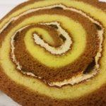味わう秋 りんごとカラメルのロールケーキ【ヤマザキ】