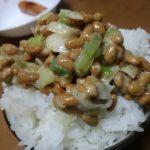 わさび入り納豆ご飯が美味しい(≧◇≦)